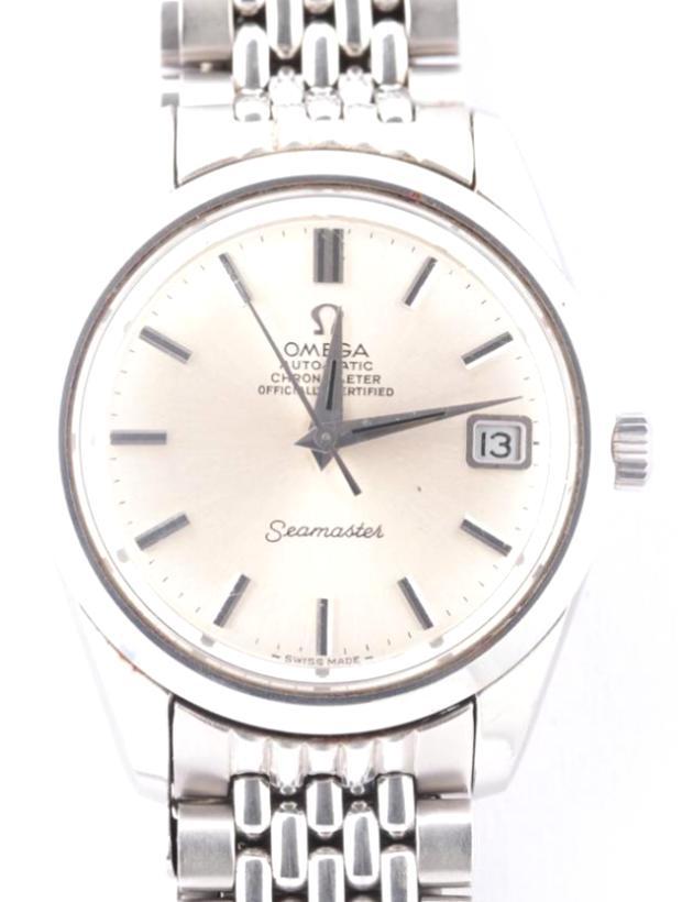 シーマスター クロノメーター ST168.024 SS/AT 白文字盤