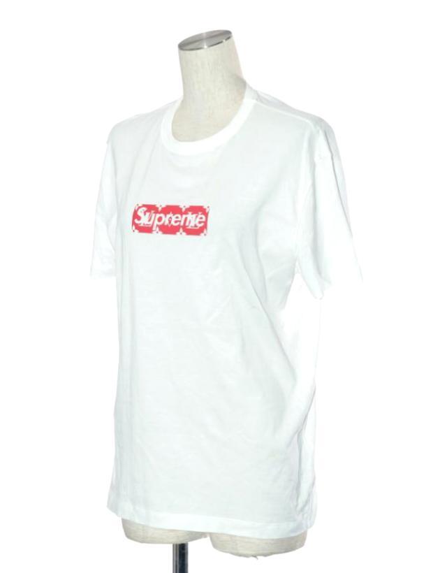 ヴィトン ボックスロゴ コットン Tシャツ 白 XS タグ取れかけ