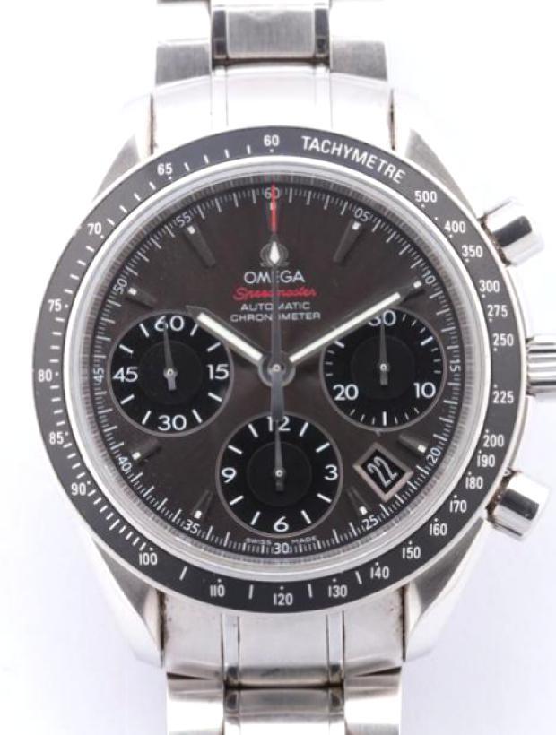 スピードマスター デイト クロノグラフ 323.30.40.40.06.001 SS AT グレー文字盤
